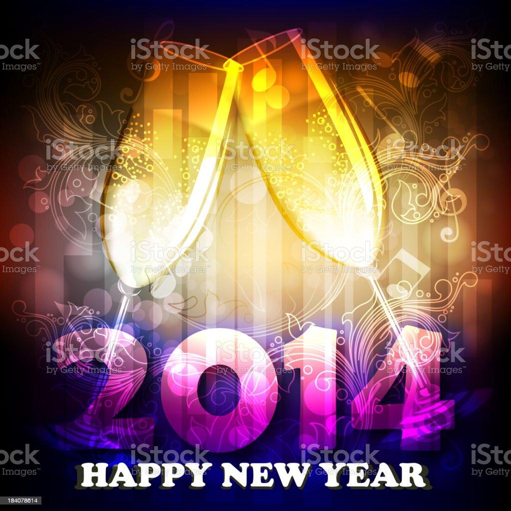Schönes Neues Jahr 2014 Feier Hintergrund Stock Vektor Art und mehr ...