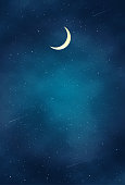 istock Beautiful Night landscape illustration 1271638274
