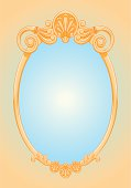 beautiful ornate ellipse frame