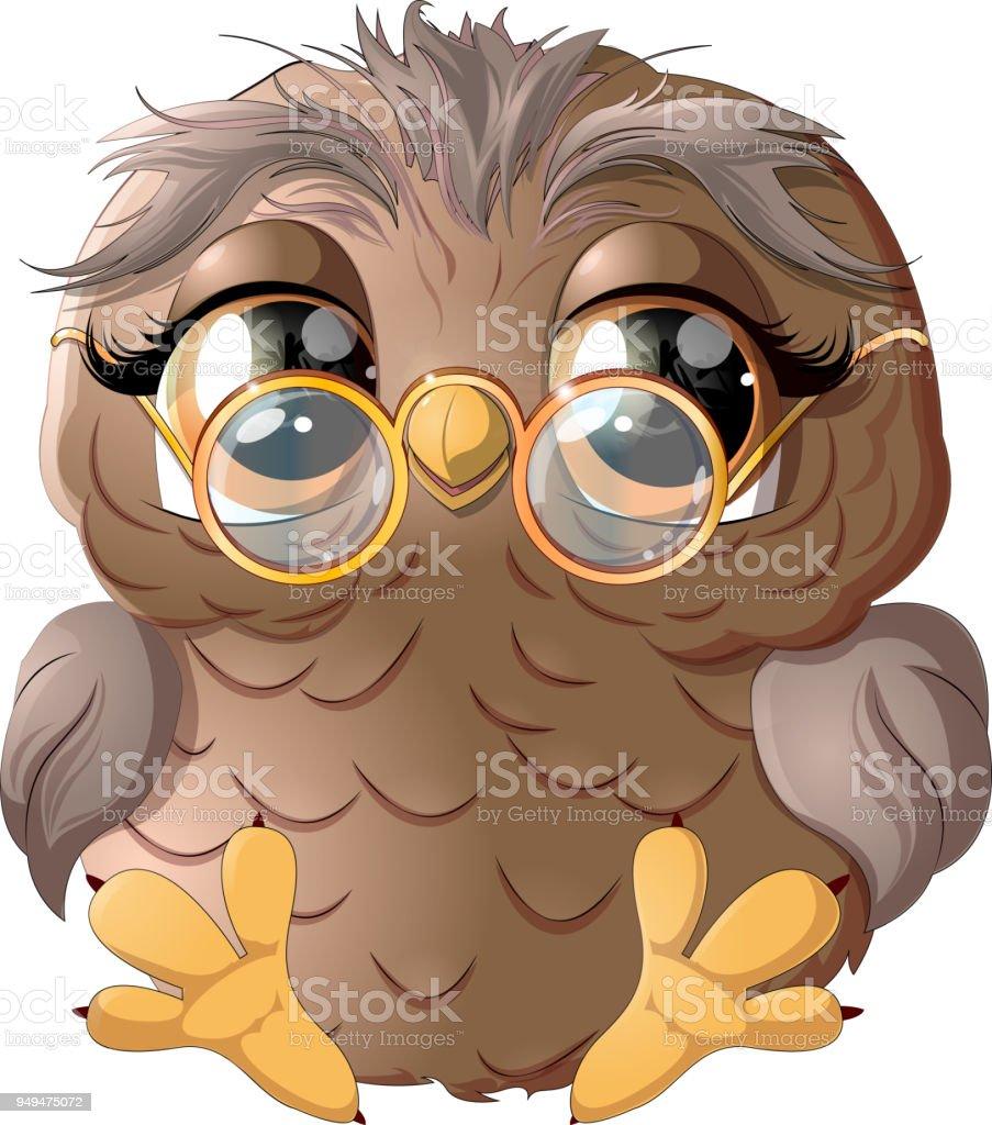 linda coruja desenho - ilustração de arte em vetor