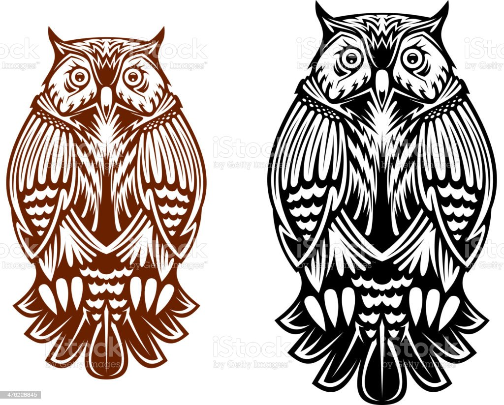 Beautiful owl mascot royalty-free beautiful owl mascot stock vector art & more images of animal