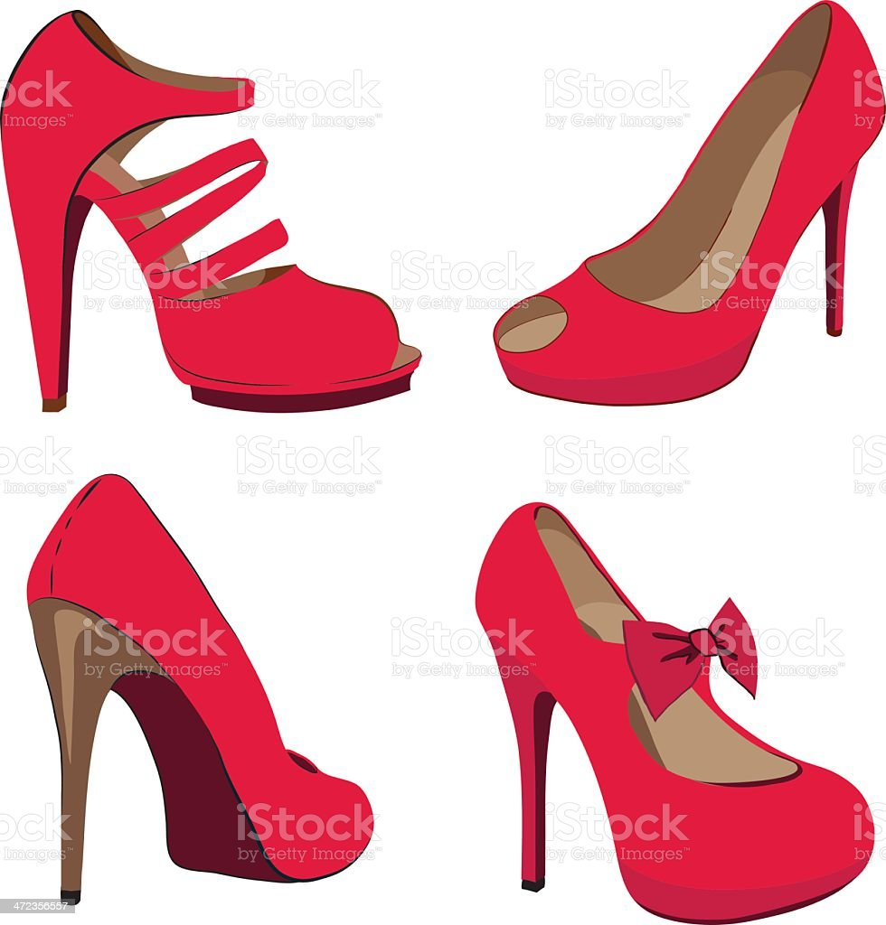 Beautiful vector red shoes royalty-free stock vector art