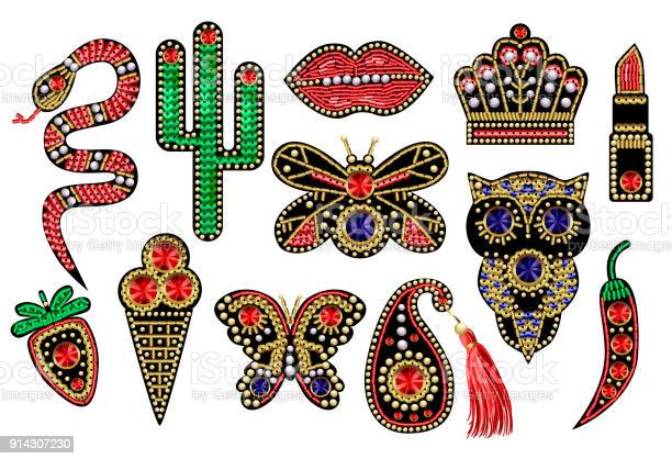 Beautiful patches with sequins beads and precious stones for textile vector id914307230?b=1&k=6&m=914307230&s=612x612&h=kndwzu2 dqhb guij b79cf nrmwy6va0awat4vmzo4=