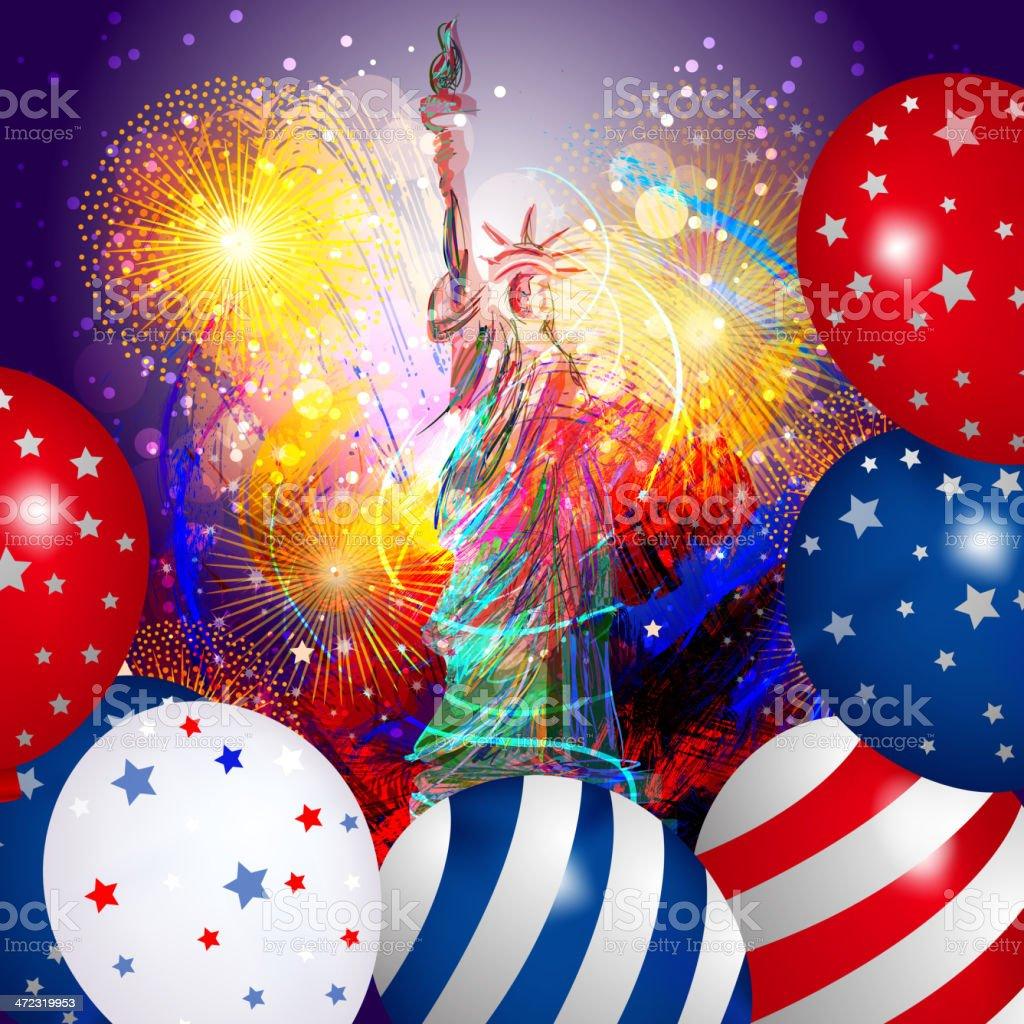 Beautiful Patriotic Background vector art illustration