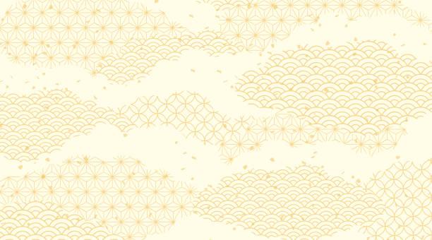 illustrazioni stock, clip art, cartoni animati e icone di tendenza di a beautiful pattern of japan - giappone