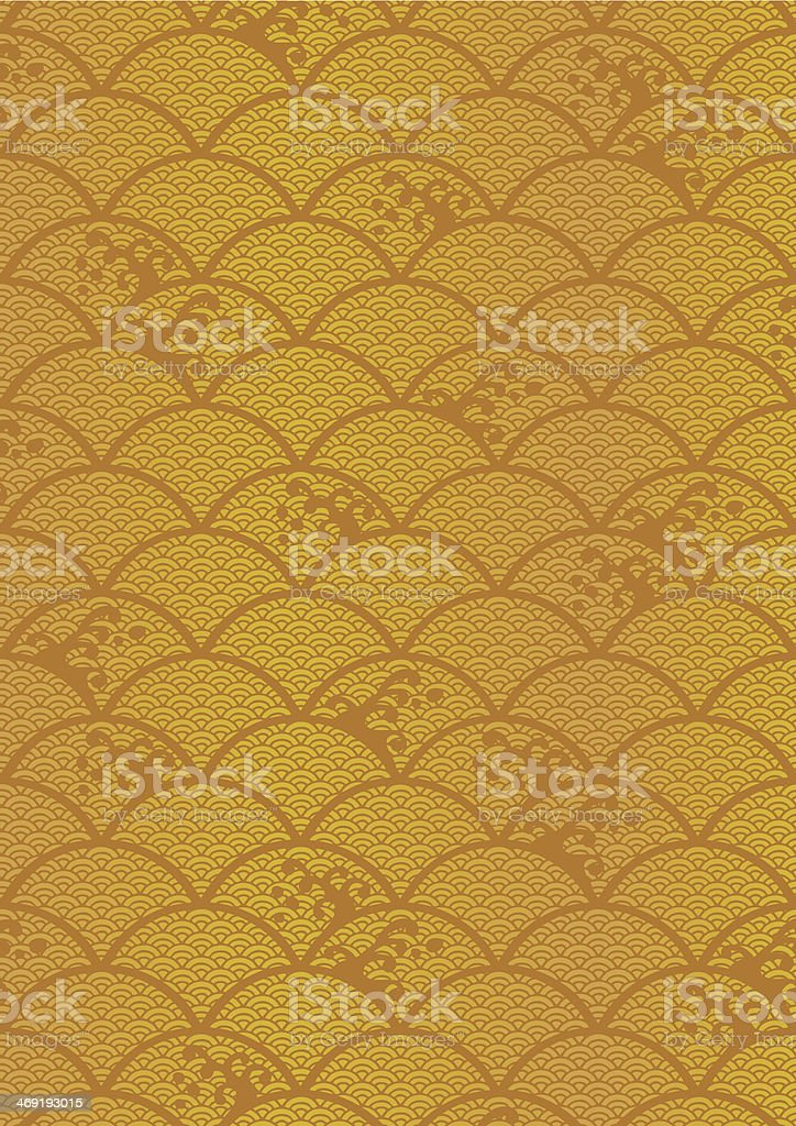 Beautiful pattern of wave vector art illustration