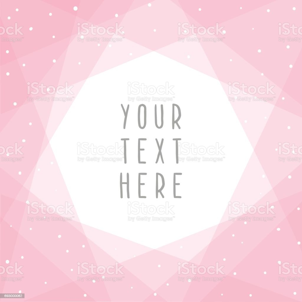 Beautiful pink abstract card template. vector art illustration