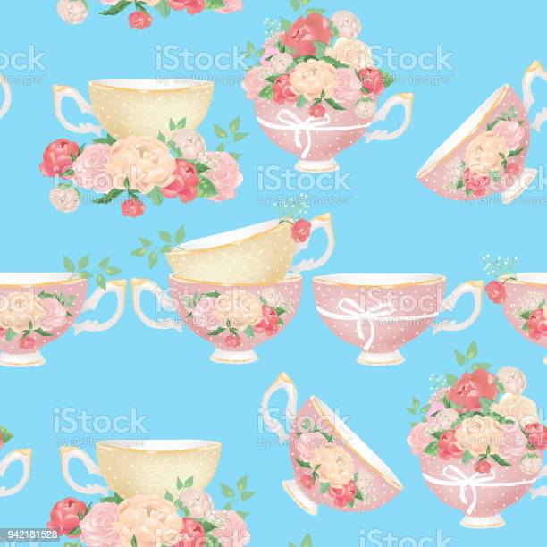 Beautiful pink and beige porcelain tea cups with tied bows and peony vector id942181528?b=1&k=6&m=942181528&s=612x612&h=8uxtrgw9 pbkbwkdjyhpgwcuvxkz53airspb6dabca4=