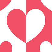 beautiful pink and white heart for pattern and background,vector illustration.