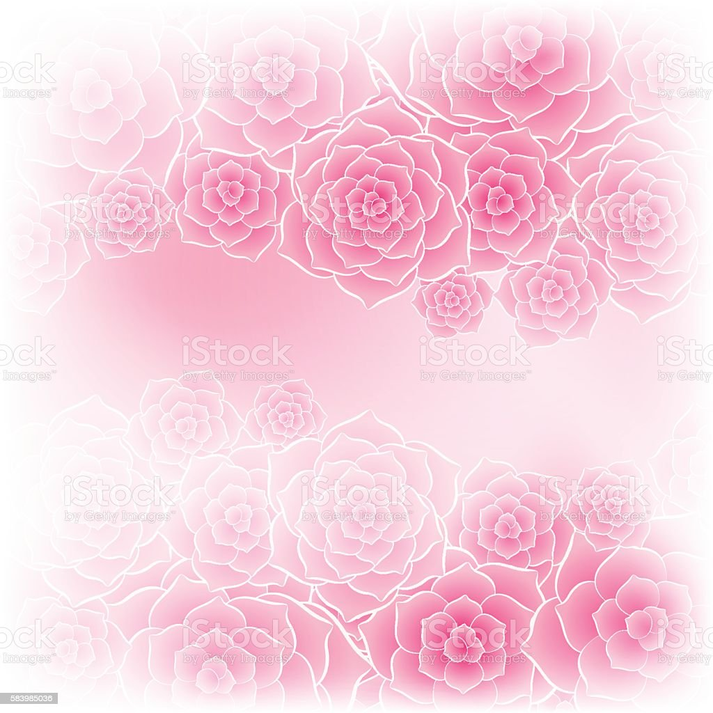 beautiful pink rose flower background stock vector art