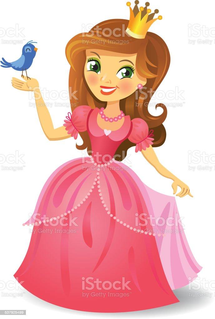 Beautiful princess vector art illustration