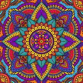 Beautiful print for a scarf, hand-drawn mandala