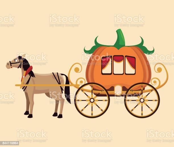 Beautiful pumpkin carriage horse fantastic tale vector id844116864?b=1&k=6&m=844116864&s=612x612&h=0ng2ovvhl syiwcpifhn0lzatdvyvas8r3hogcriuri=
