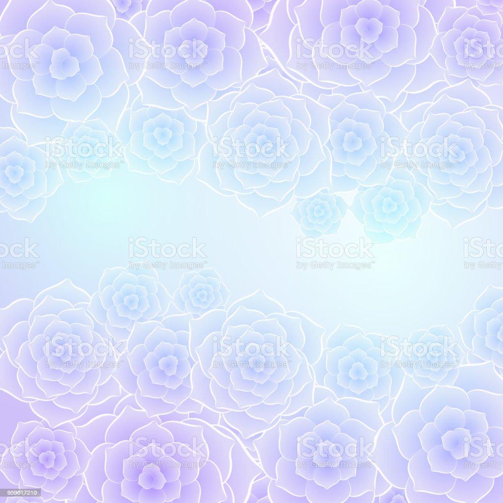 Belle Image Rose Bleu fond de belle fleur rose bleu violet – cliparts vectoriels et plus d