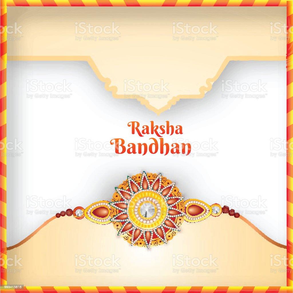 Beautiful Rakhi For Stylish Raksha Bandhan Greeting Card Design