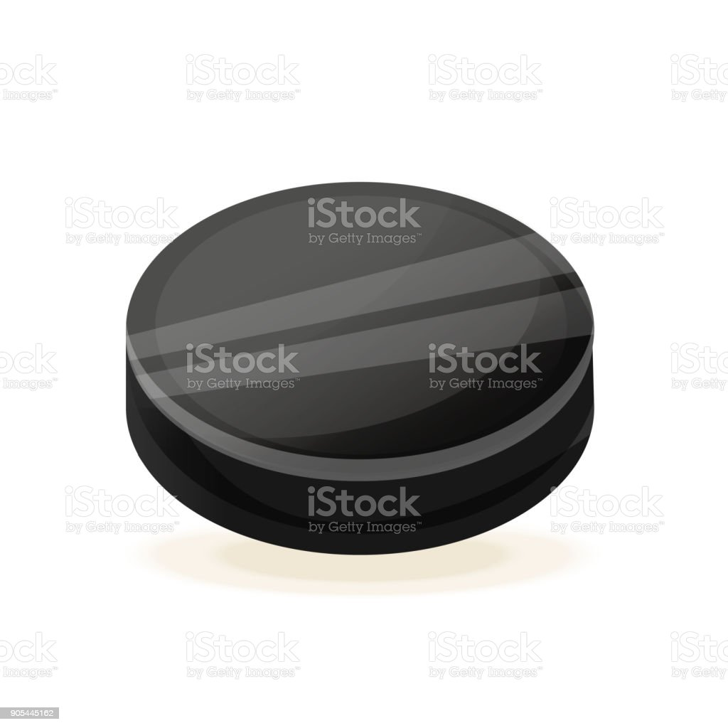 Beautiful realistic hockey puck for hockey. Winter sports team games....