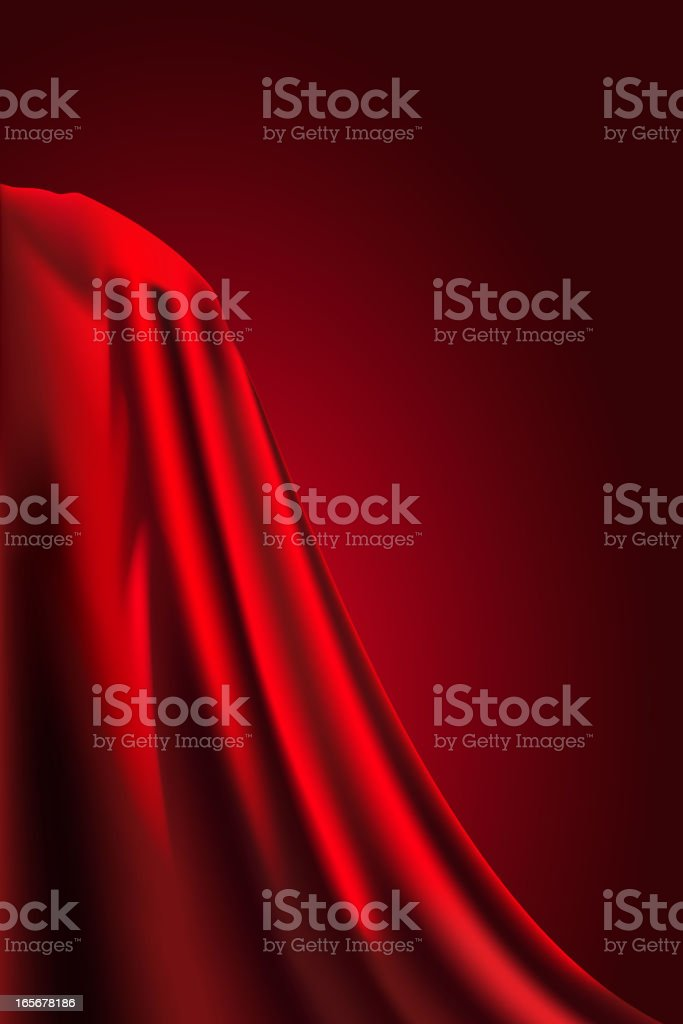 Beautiful Red Cloth royalty-free stock vector art