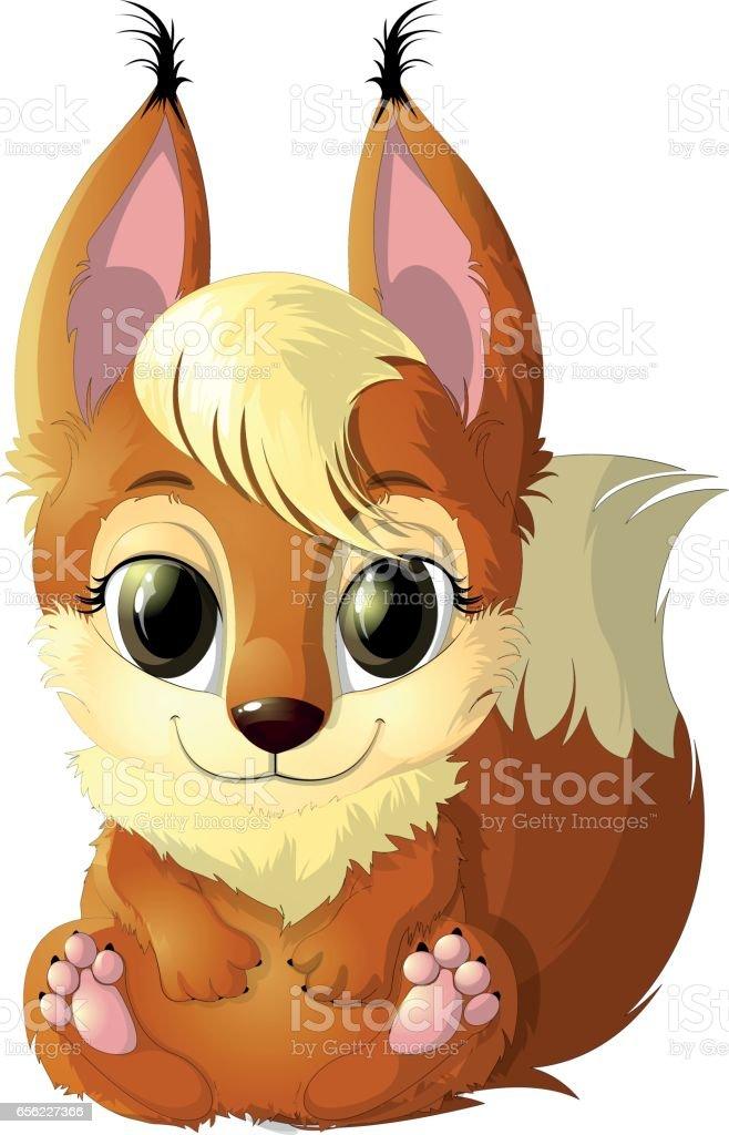 Magnifique écureuil Roux Vecteurs Libres De Droits Et Plus D
