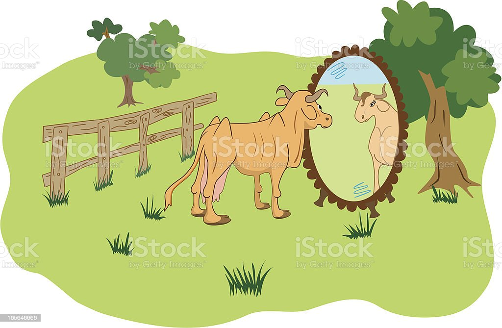 Beautiful reflection royalty-free stock vector art