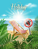 drawing of vector beautiful beach sign. Created by illustrator cs6. This file of transparent.