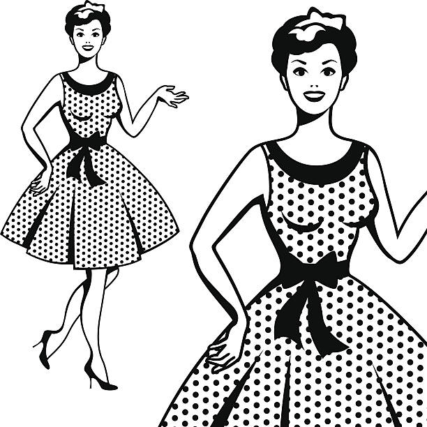 beautiful retro girl in pop art style. - 1940s style stock illustrations