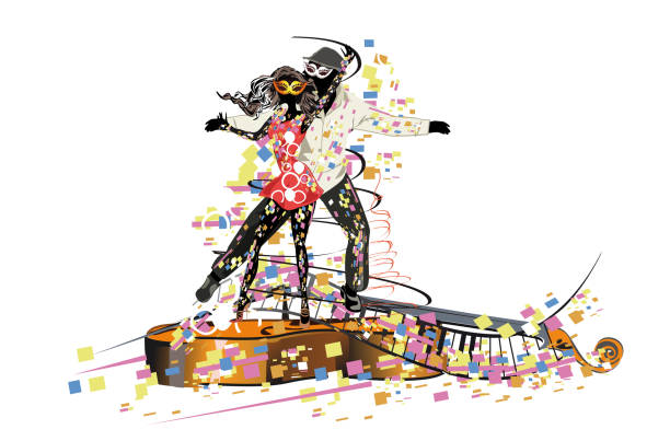 bildbanksillustrationer, clip art samt tecknat material och ikoner med vackra romantiska par passionerade latinamerikanska danser. - latino music