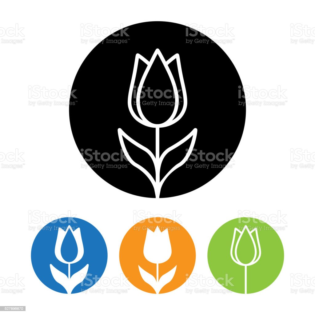 Beautiful Rose flower icon and logo in trendy linear style. vector art illustration