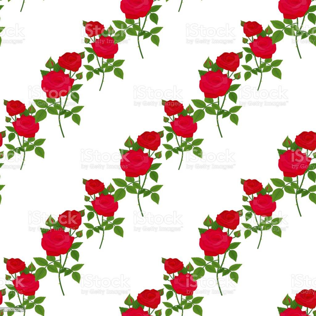 Beautiful Rose Flower Seamless Pattern Background Design