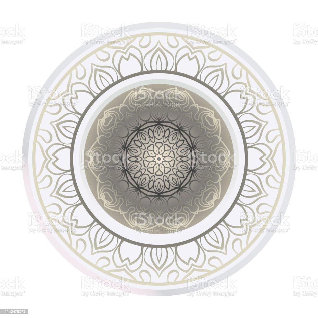 Ilustración De Hermoso Mandala Flor Redonda Ilustración