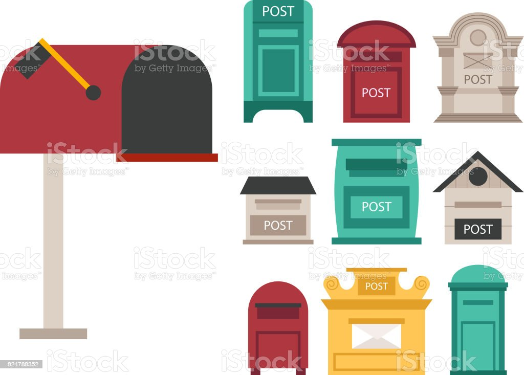 Beautiful Rural Curbside Open And Closed Postal Mailboxes With