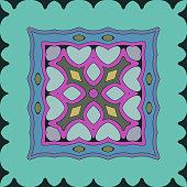 beautiful scarf textile pattern background