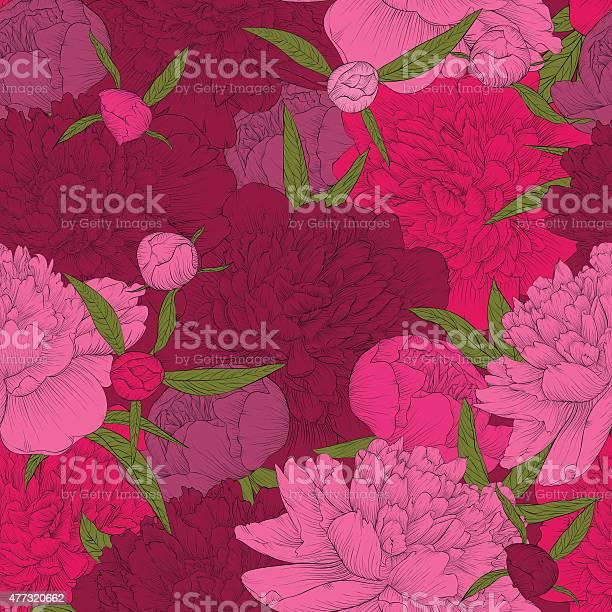 Beautiful seamless background pink peonies with green leaves and buds vector id477320662?b=1&k=6&m=477320662&s=612x612&h=f5lx1n2k2bwrhxrm7v4xyr4352elnt4kl0yj7ww1ths=