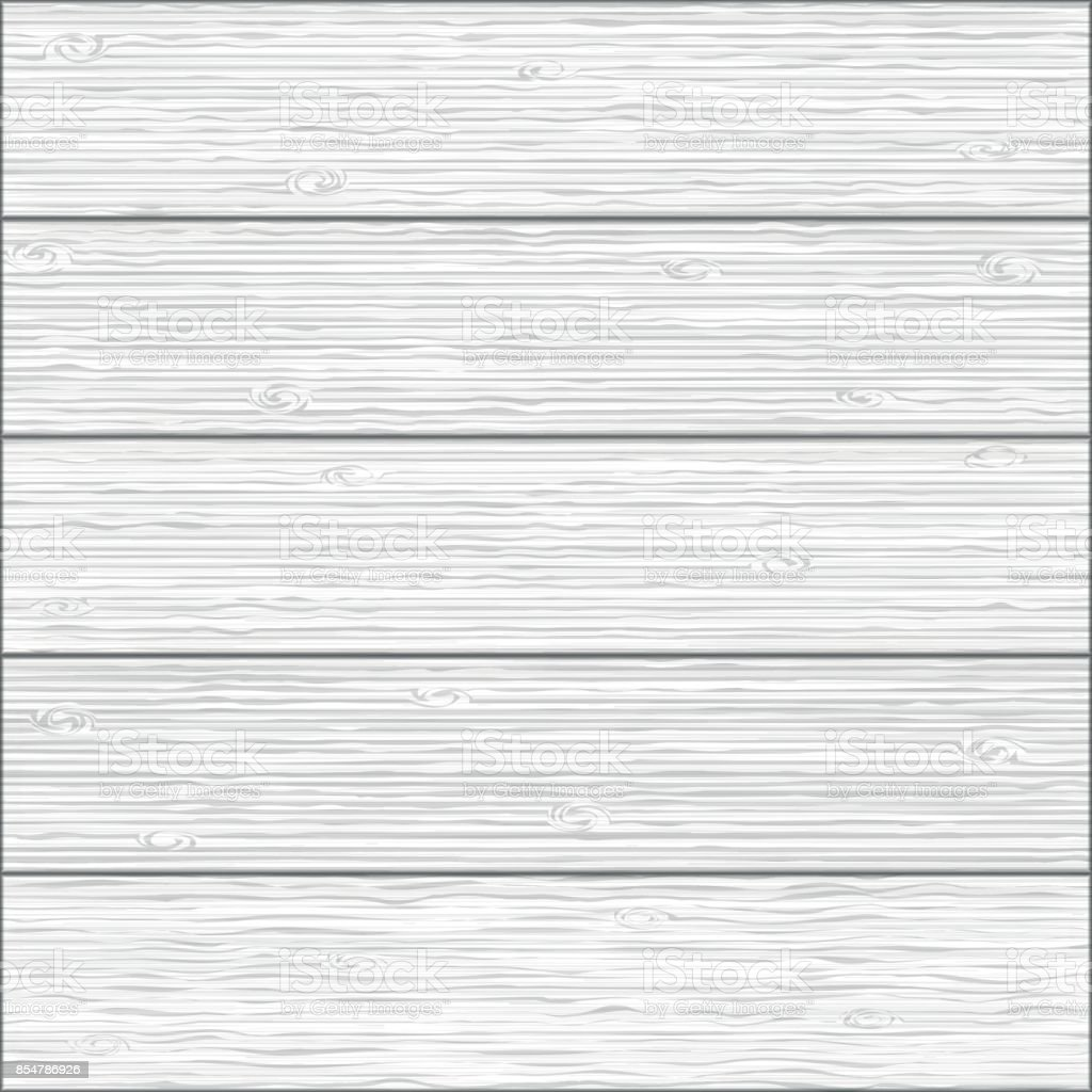 Beautiful seamless background. Realistic texture of white wood planks. Hand drawn Natural realistic Wooden Background. vector art illustration