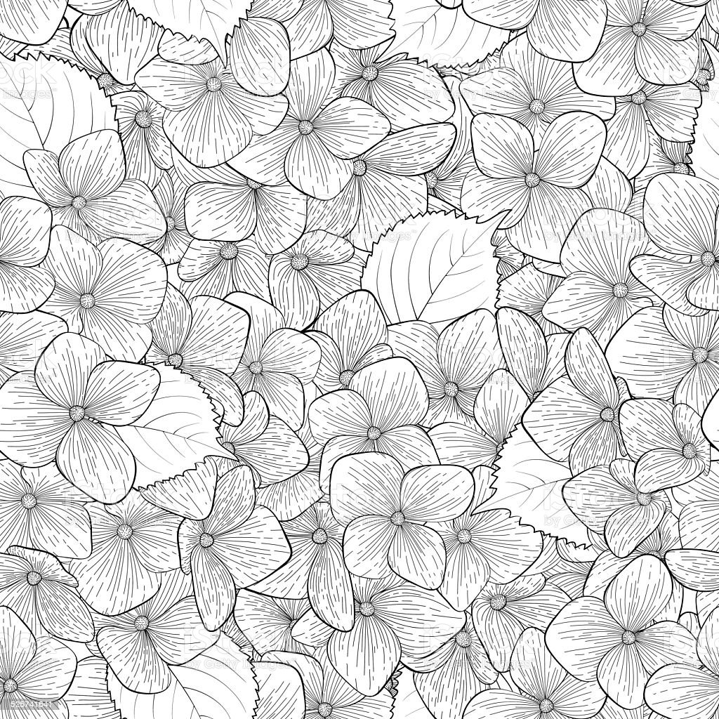 Beautiful seamless background with monochrome black and white beautiful seamless background with monochrome black and white flowers royalty free stok vektr mightylinksfo