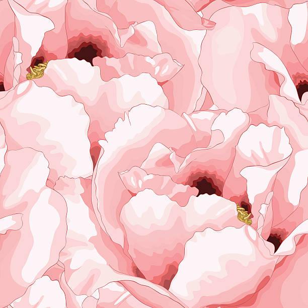schöne nahtlose hintergrund mit rosa blumen. - stoffmalerei stock-grafiken, -clipart, -cartoons und -symbole