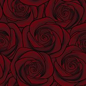 Beautiful seamless background with red roses