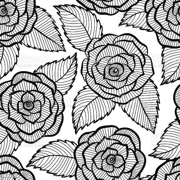 Beautiful seamless black and white pattern in roses and leaves lace vector id494526323?b=1&k=6&m=494526323&s=612x612&h=8pmjfqlhl arpimmuyp6ndkpaplfbmngatn2 w0okoo=