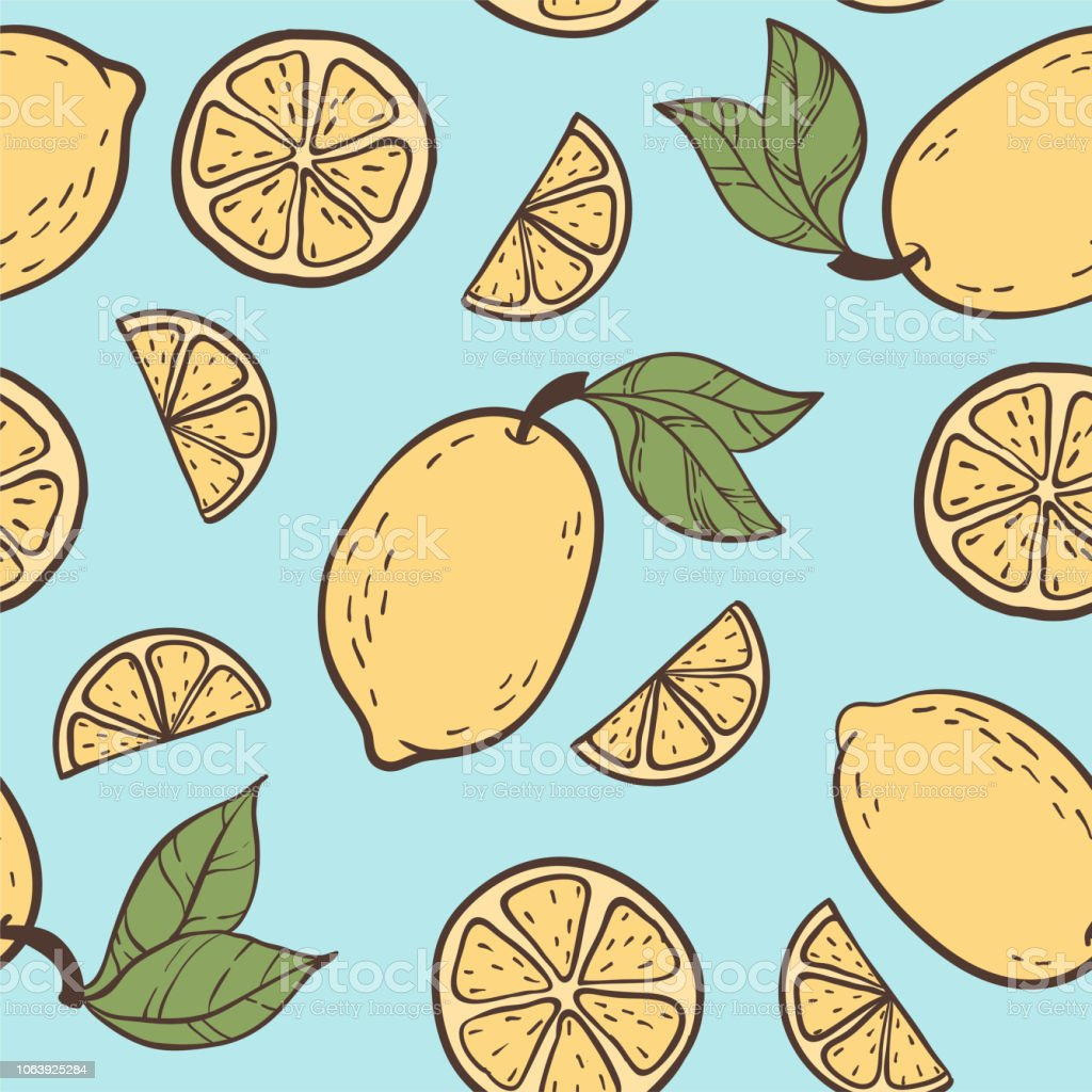 Beautiful Seamless Doodle Pattern With Vintage Yellow Colour Cute