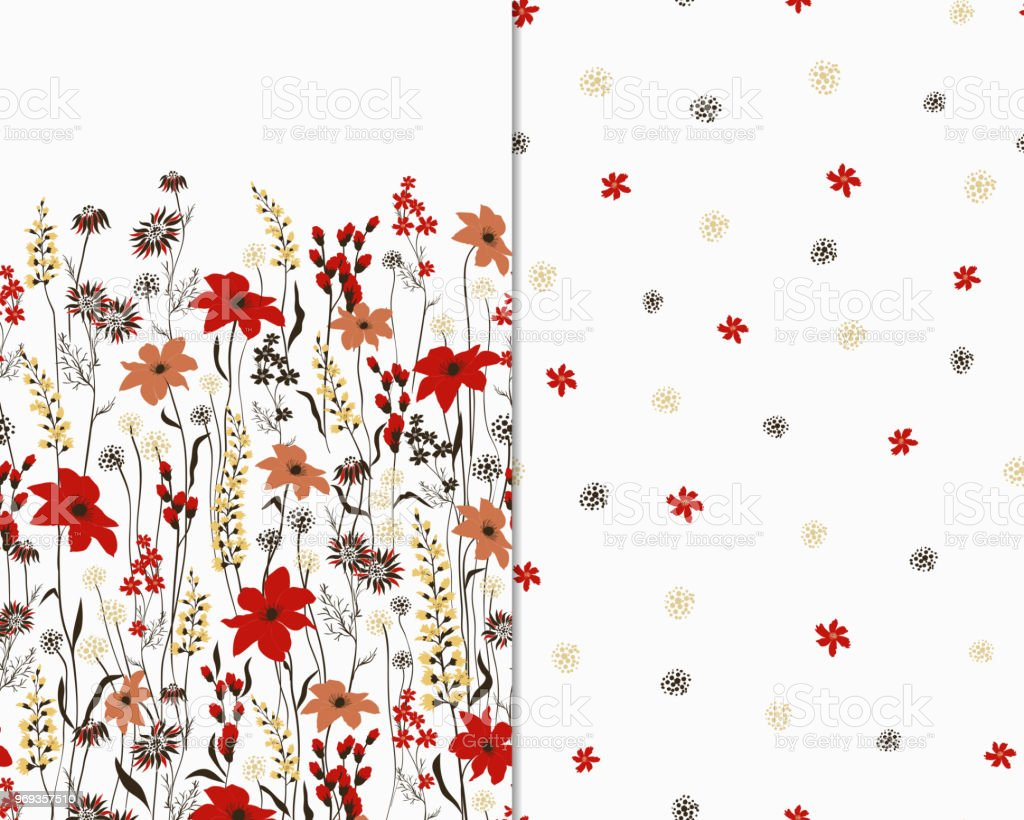 Beautiful seamless floral pattern set flower vector illustration beautiful seamless floral pattern set flower vector illustration field of flowers royalty free izmirmasajfo