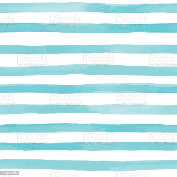 Beautiful seamless pattern with blue watercolor stripes hand painted vector id824073552?b=1&k=6&m=824073552&s=612x612&h=qlkee0n6lkmegqandrd jhuplveqb rwtupt8r9gp6c=