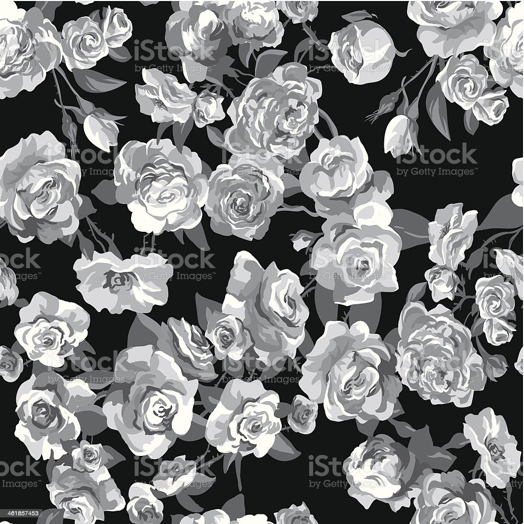 Beautiful Seamless Rose Background royalty-free stock vector art