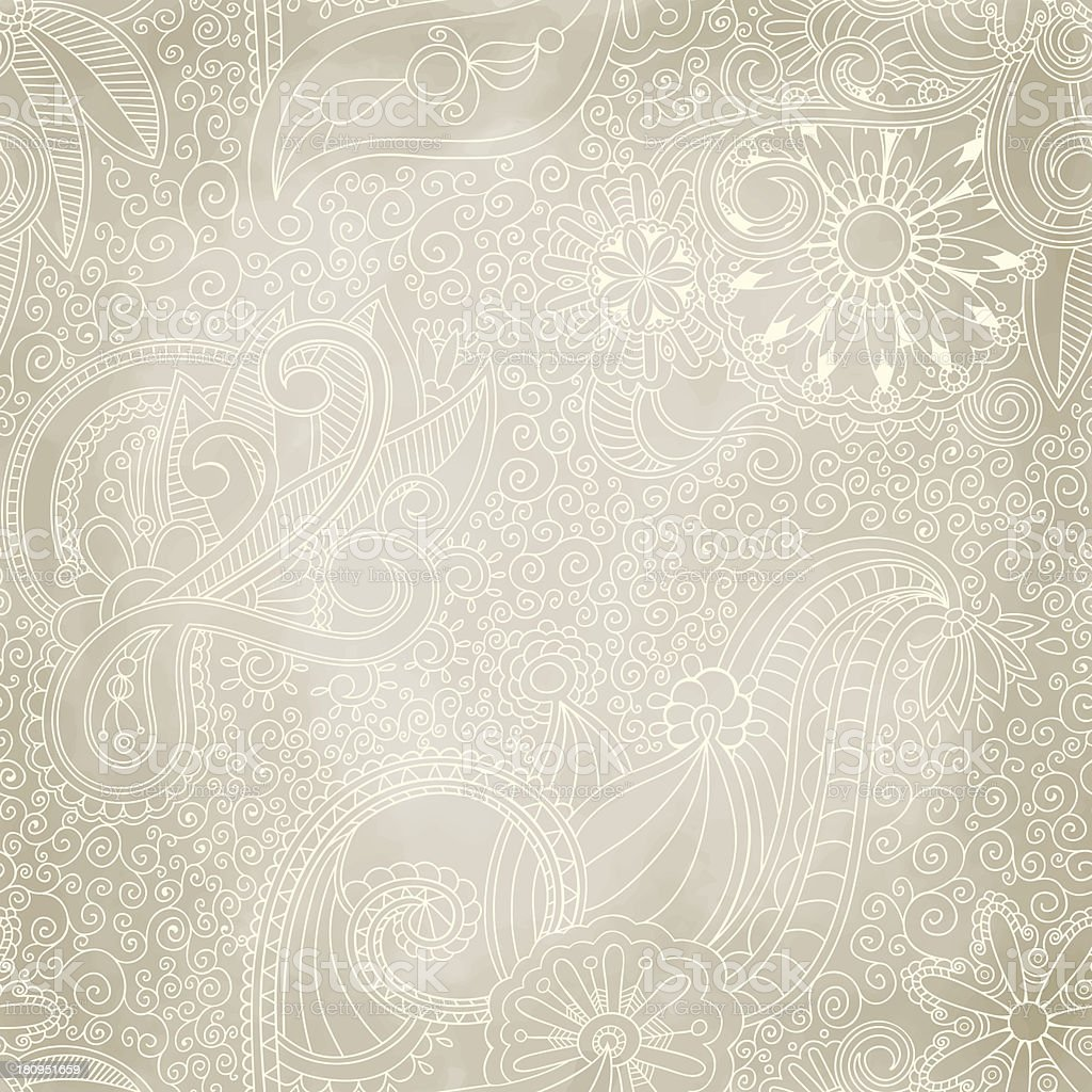 Beautiful seamless vintage pattern - Royalty-free Abstract vectorkunst