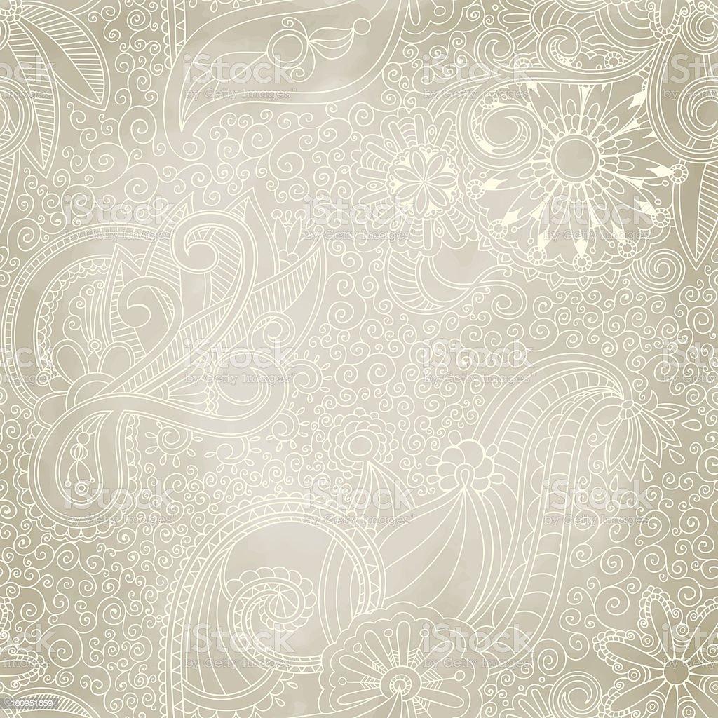 Beautiful seamless vintage pattern vector art illustration