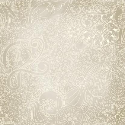 Beautiful Seamless Vintage Pattern Stockvectorkunst en meer beelden van Abstract