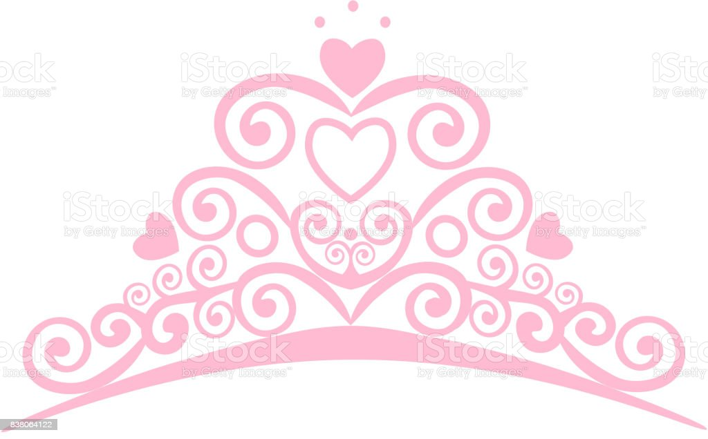 beautiful shining princess crown vector illustration design elements rh istockphoto com tiara vector graphic tiara vector graphic
