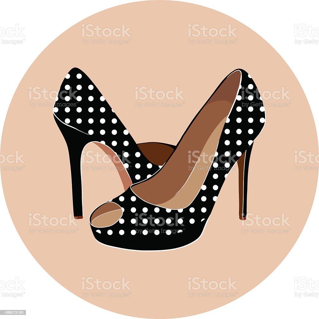 beautiful shoes vector art illustration