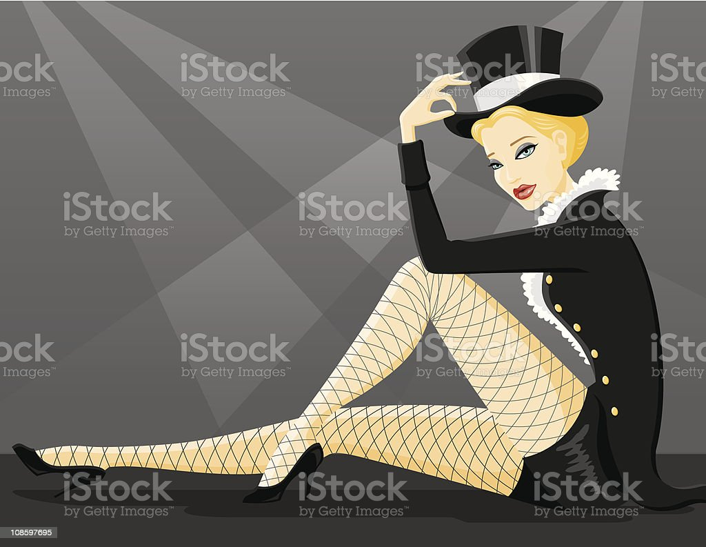 Beautiful Showgirl royalty-free beautiful showgirl stock vector art & more images of adult