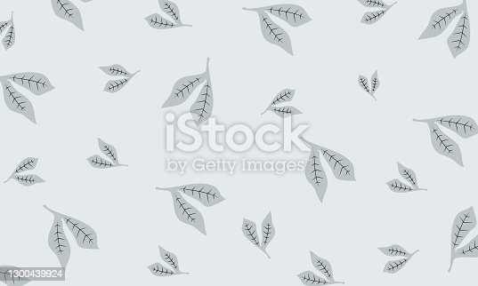 istock beautiful small leaves on white background 1300439924