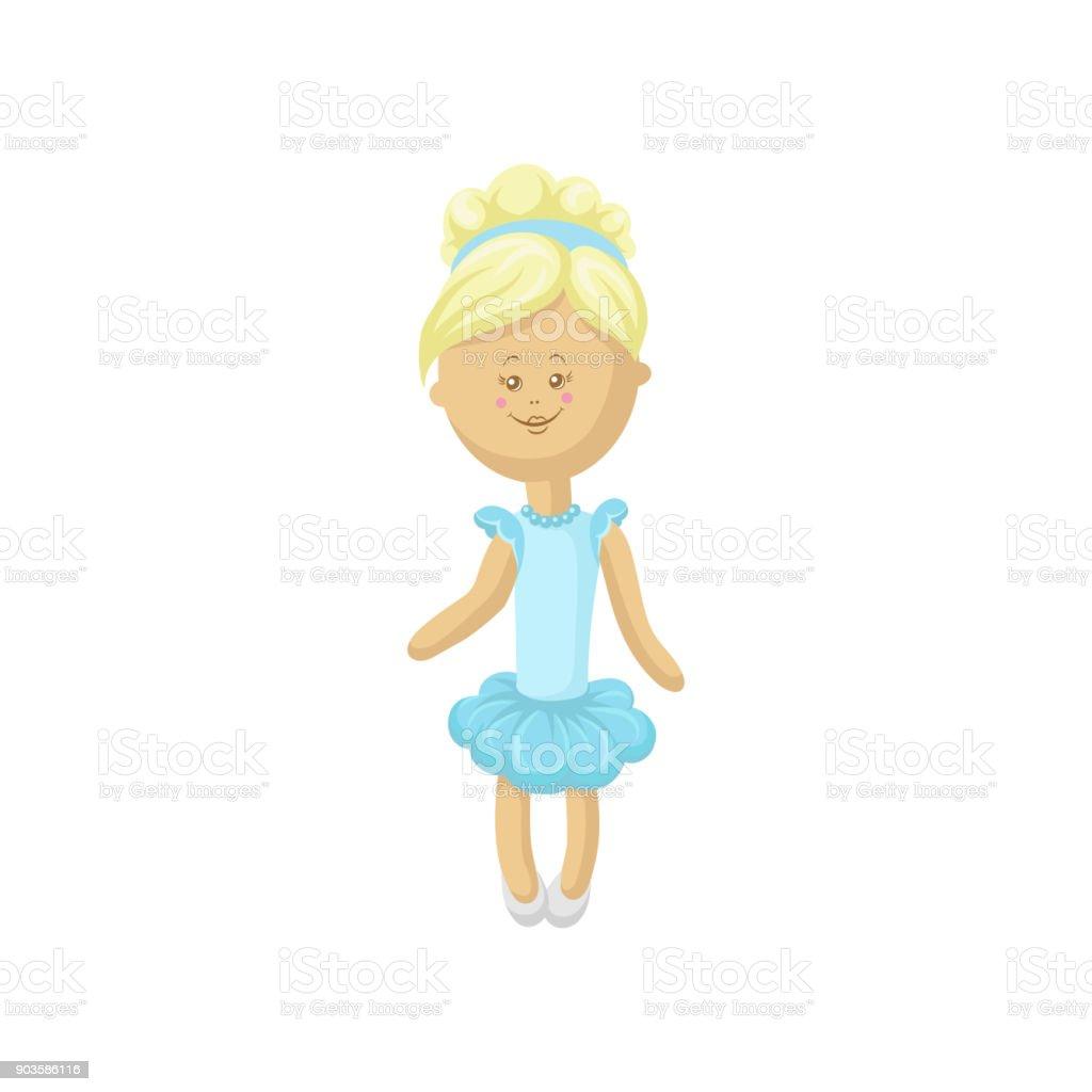 Ilustración de Hermosa Muñeca Suave Rubia Sonriente En Un Ligero ...