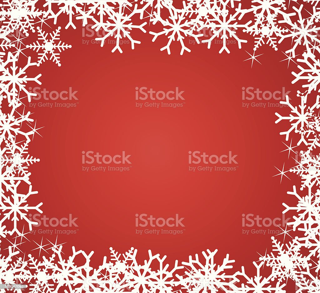 Beautiful snowflakes frame. vector art illustration